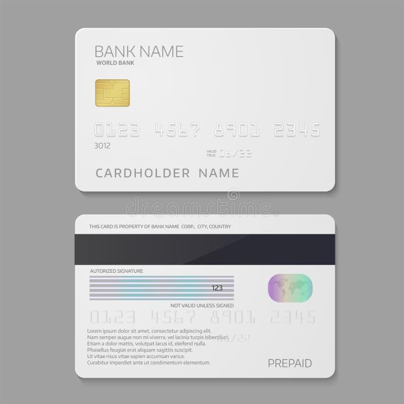 Шаблон кредитной карточки кредита в банке иллюстрация штока