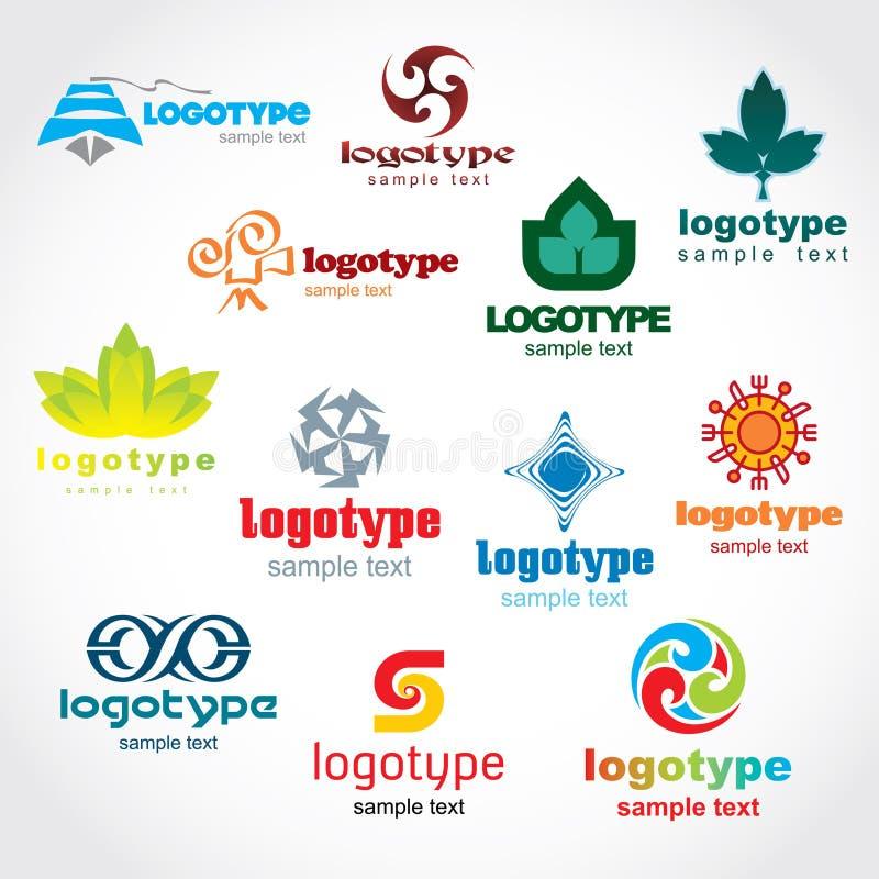 шаблон логоса иллюстрация вектора