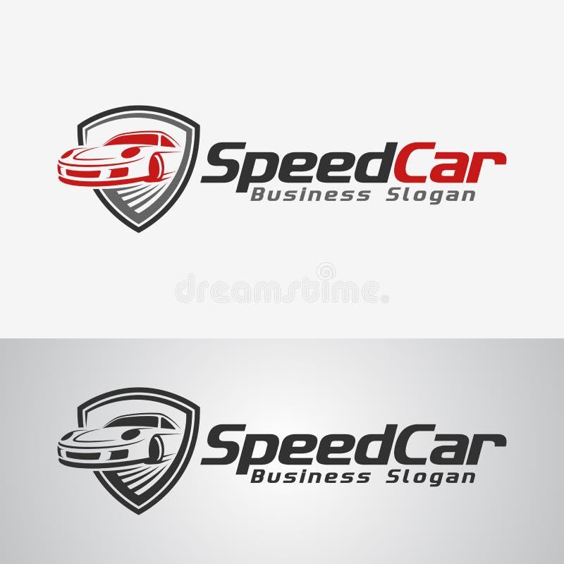 Шаблон логотипа автомобиля скорости бесплатная иллюстрация