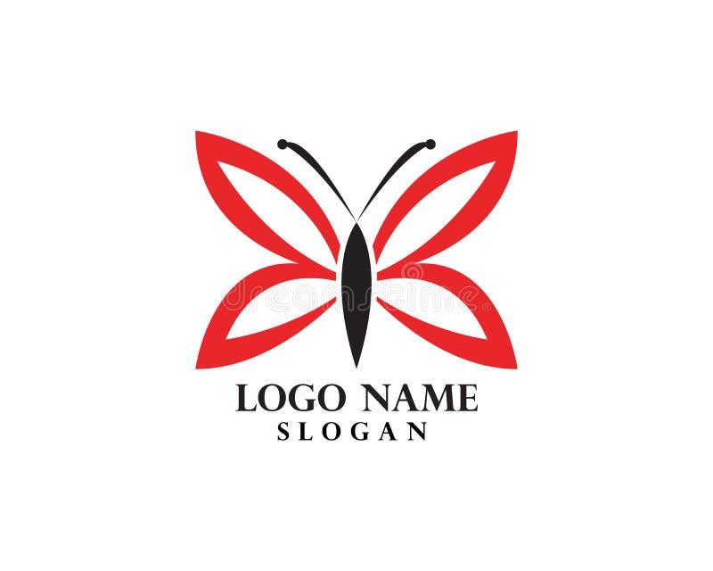 Шаблон логотипа бабочки иллюстрация вектора