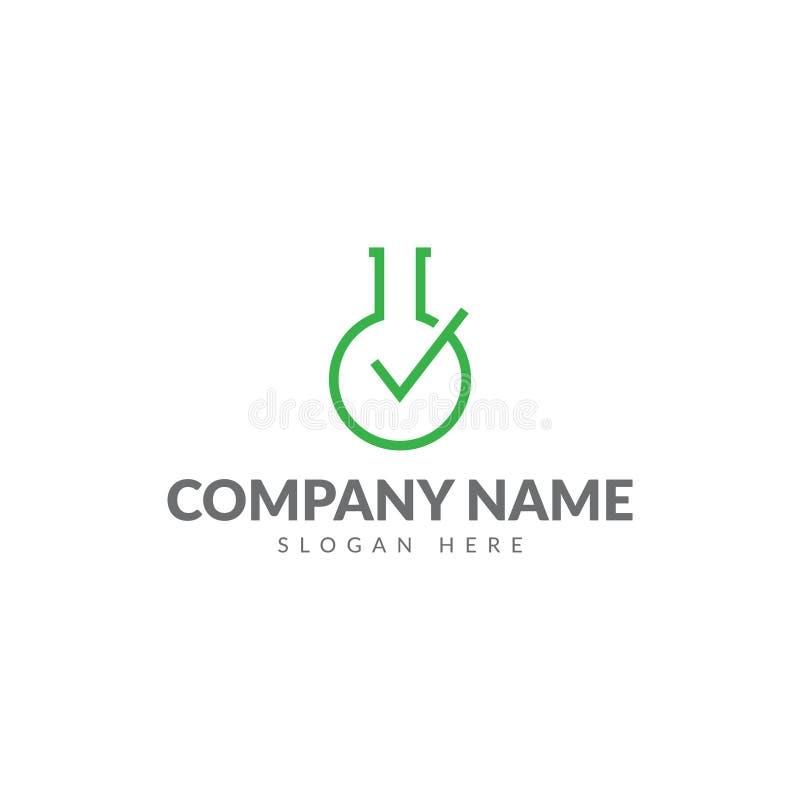 Шаблон логотипа бутылки лаборатории бесплатная иллюстрация