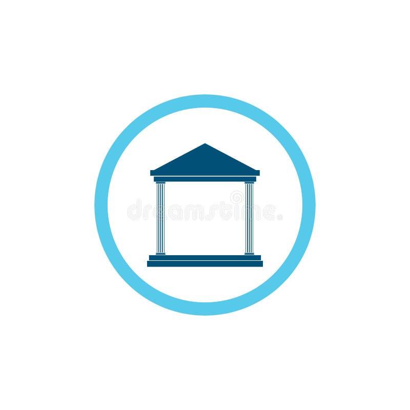 шаблон логотипа вектора значка банка иллюстрация штока