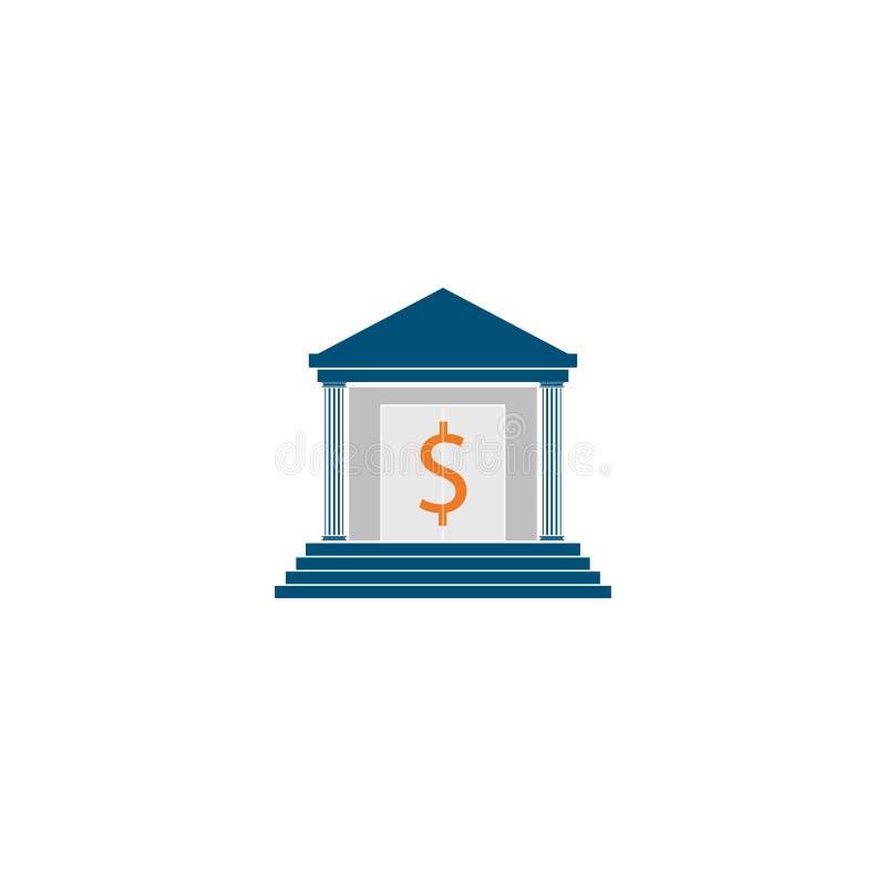 шаблон логотипа вектора значка банка иллюстрация вектора