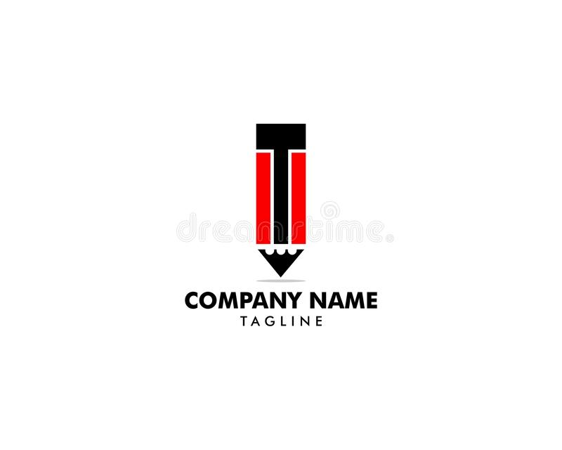 Шаблон логотипа вектора значка карандаша иллюстрация штока
