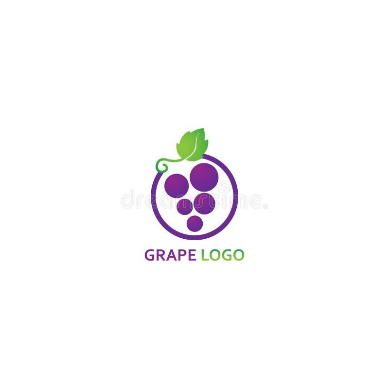 Шаблон логотипа виноградины - вектор бесплатная иллюстрация