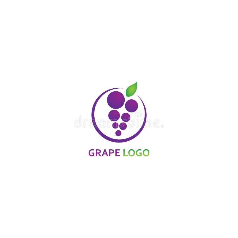 Шаблон логотипа виноградины - вектор иллюстрация вектора