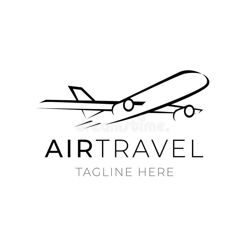 Шаблон логотипа воздушного путешествия для дела туризма Элемент агенства или транспортной компании клеймя бесплатная иллюстрация