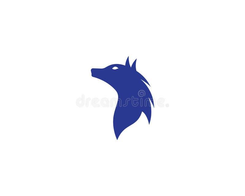 Шаблон логотипа волка иллюстрация штока