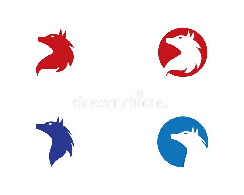 Шаблон логотипа волка иллюстрация вектора