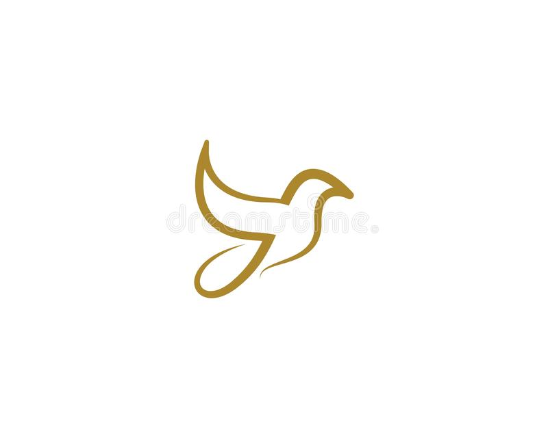 Шаблон логотипа голубя птицы иллюстрация вектора