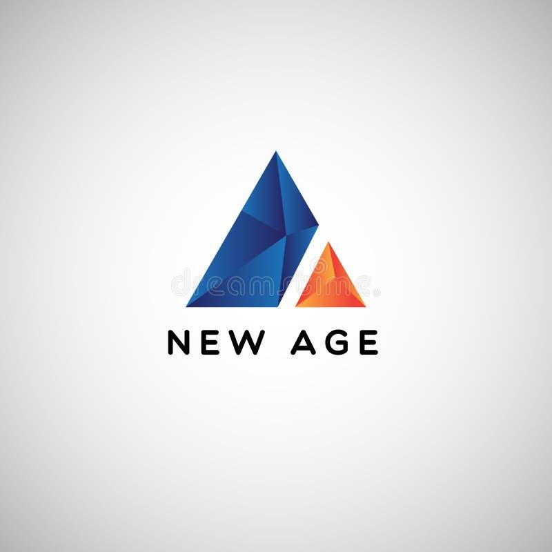 Шаблон логотипа дела Абстрактн Голуб Геометрическ Треугольника Компании иллюстрация штока