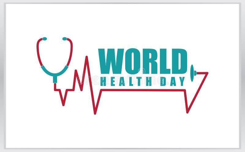 Шаблон логотипа дня здоровья мира стоковое фото