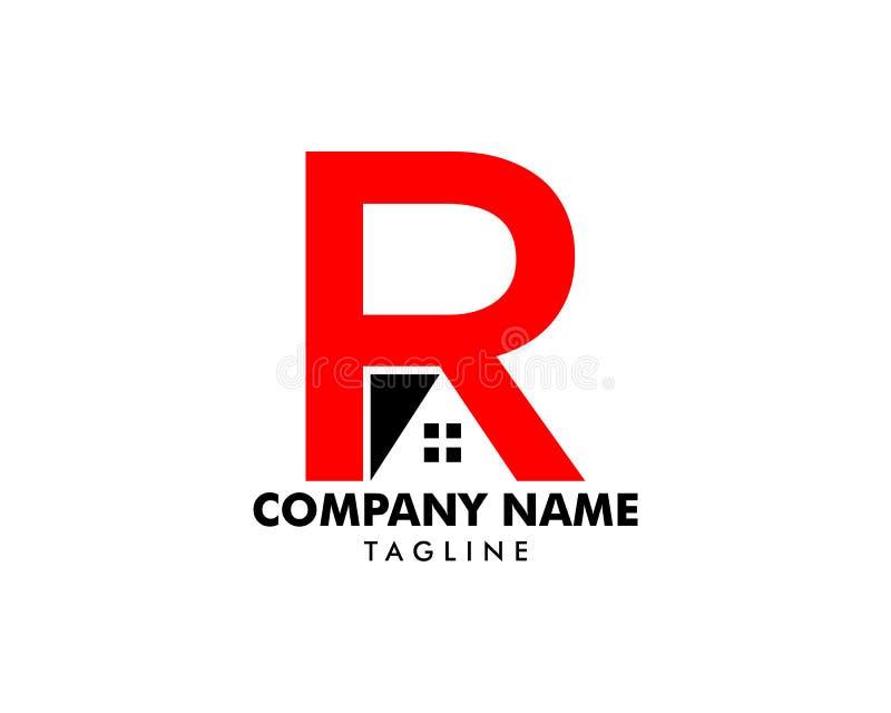 Шаблон логотипа дома начального письма r бесплатная иллюстрация