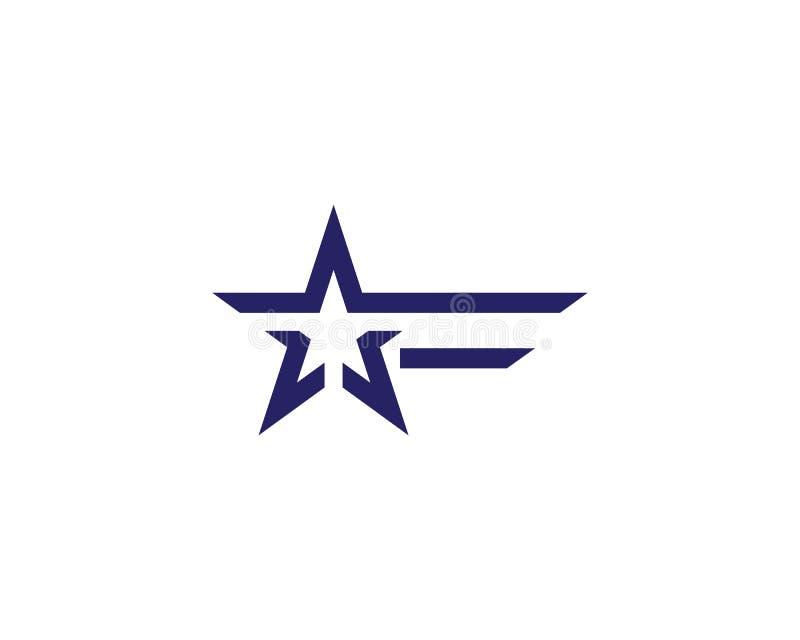 Шаблон логотипа звезды иллюстрация штока