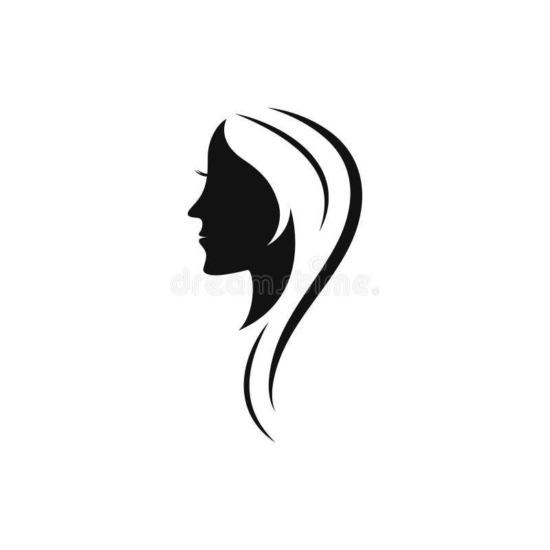 Шаблон логотипа значка женщин красоты бесплатная иллюстрация