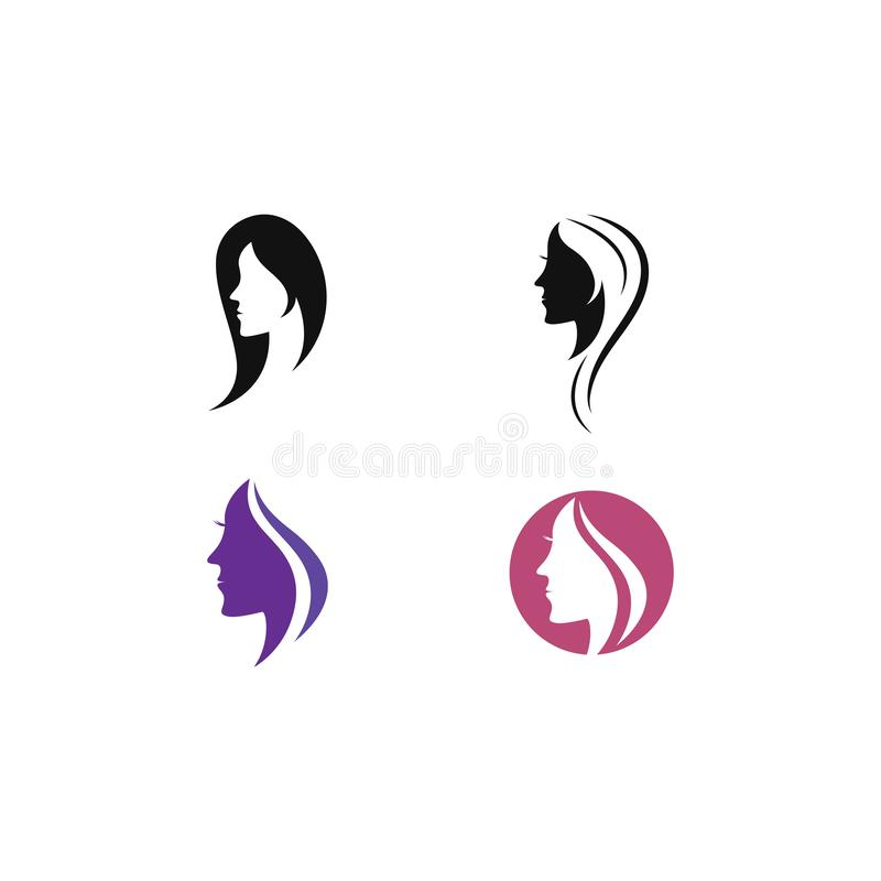 Шаблон логотипа значка женщин красоты иллюстрация штока
