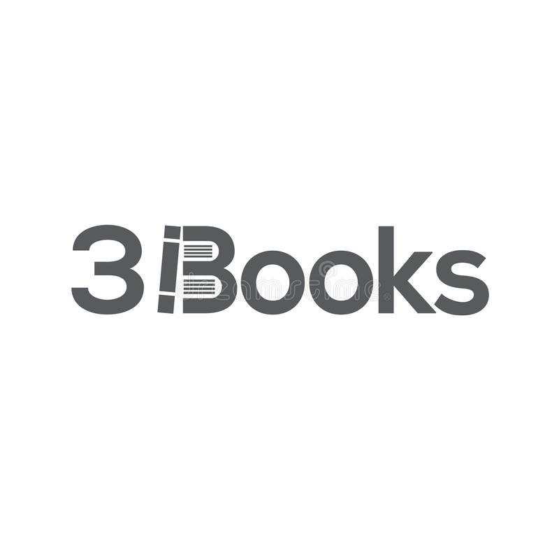 Шаблон логотипа книг иллюстрация вектора