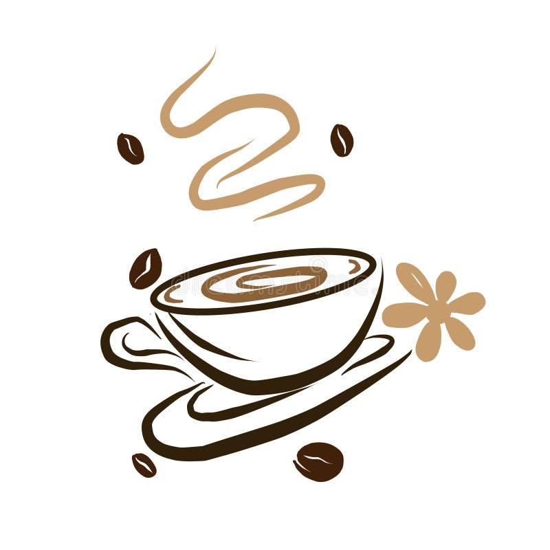 Шаблон логотипа кофейни для меню ресторана или бара бесплатная иллюстрация