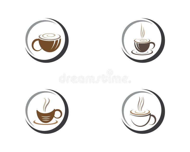 Шаблон логотипа кофейной чашки иллюстрация штока