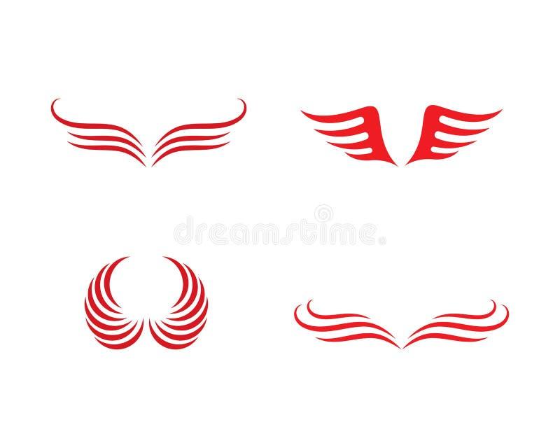 Шаблон логотипа крыла иллюстрация штока
