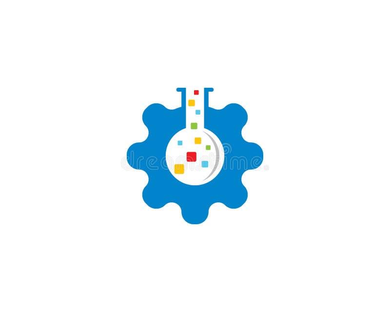 Шаблон логотипа лаборатории иллюстрация штока