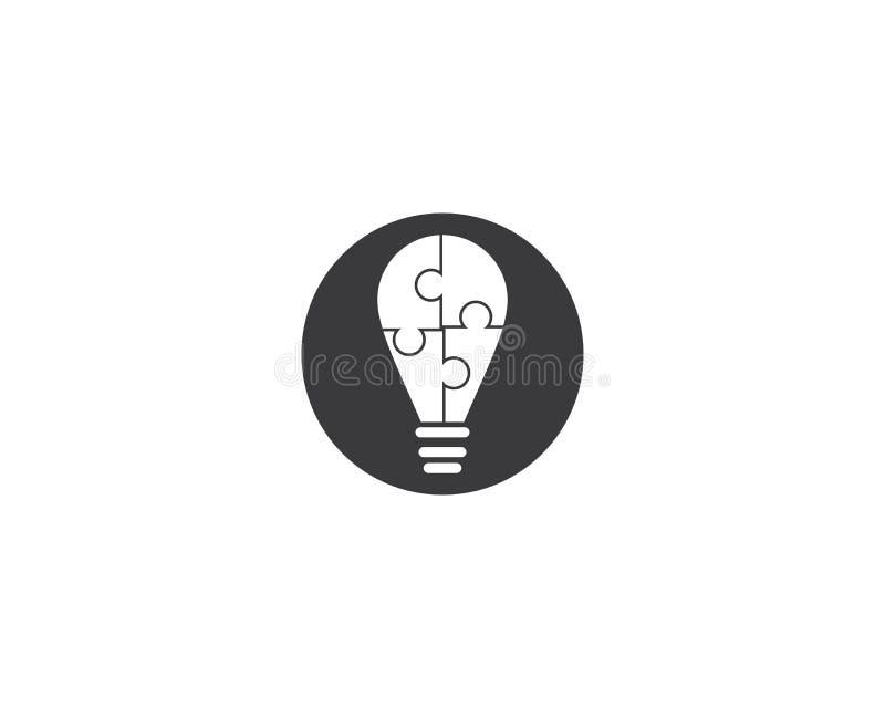 Шаблон логотипа лампочки иллюстрация штока