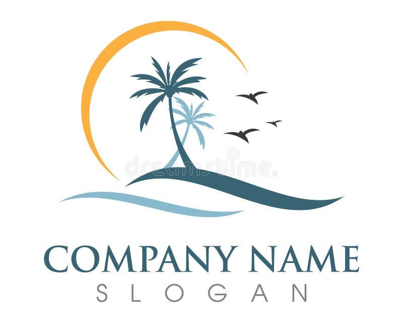 Шаблон логотипа лета пальмы бесплатная иллюстрация