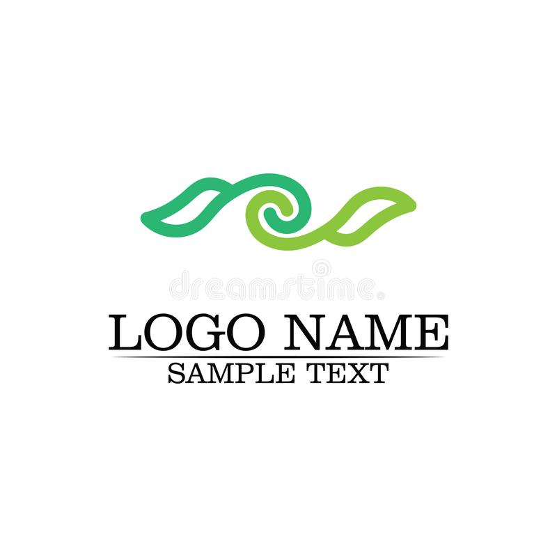 Шаблон логотипа лист дерева Eco иллюстрация вектора