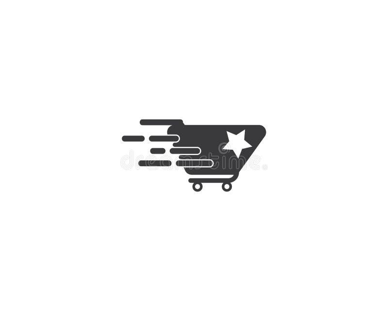 Шаблон логотипа магазина иллюстрация вектора