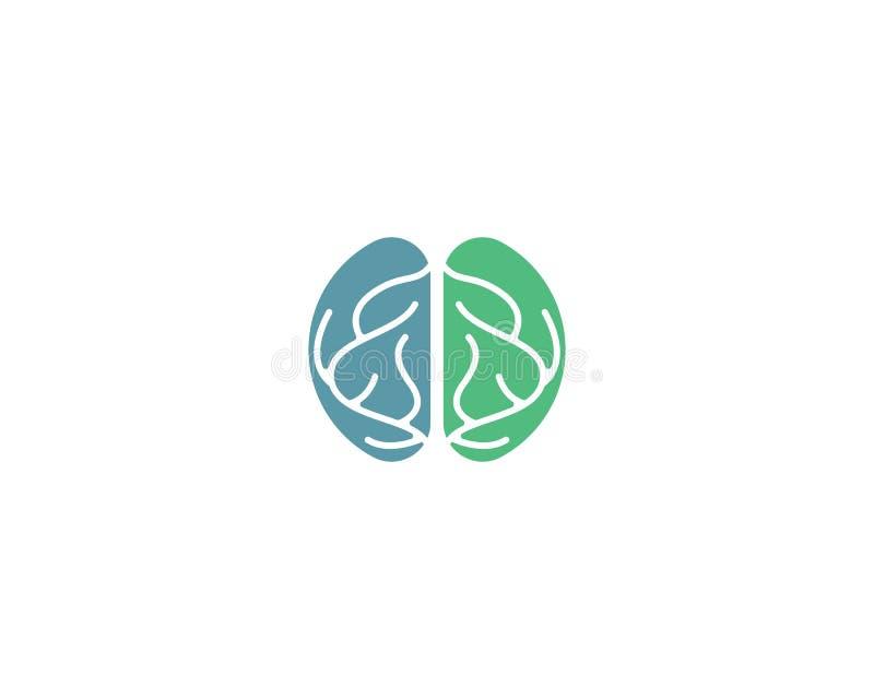 Шаблон логотипа мозга иллюстрация вектора