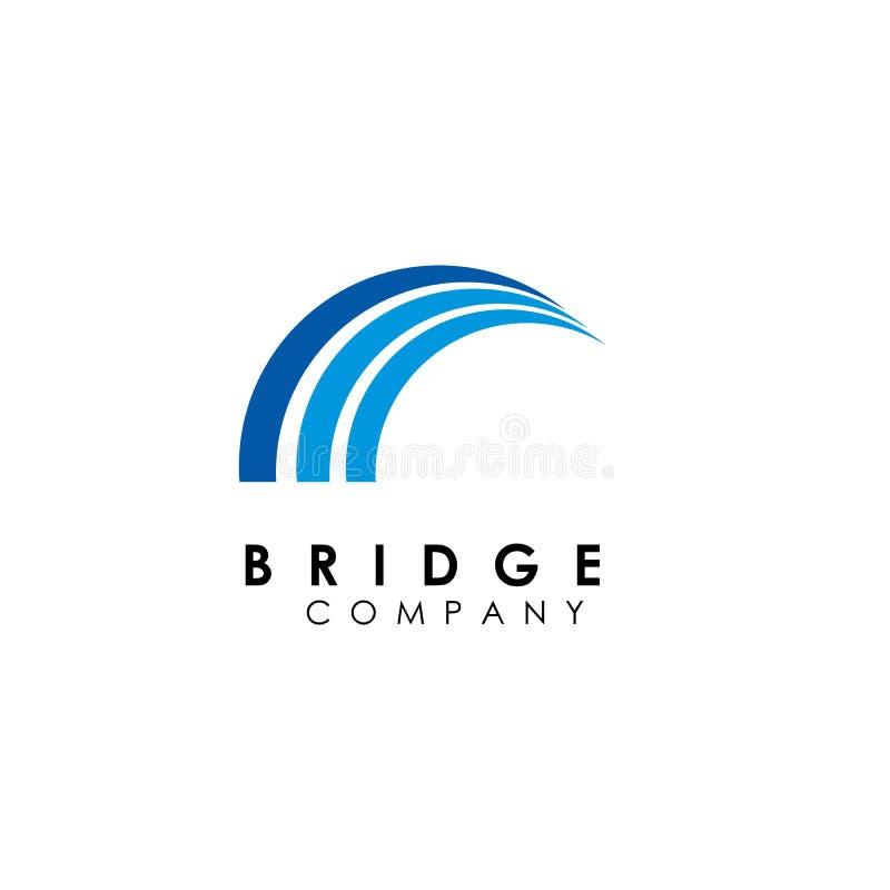 шаблон логотипа моста, вектор дизайна здания, значок бесплатная иллюстрация