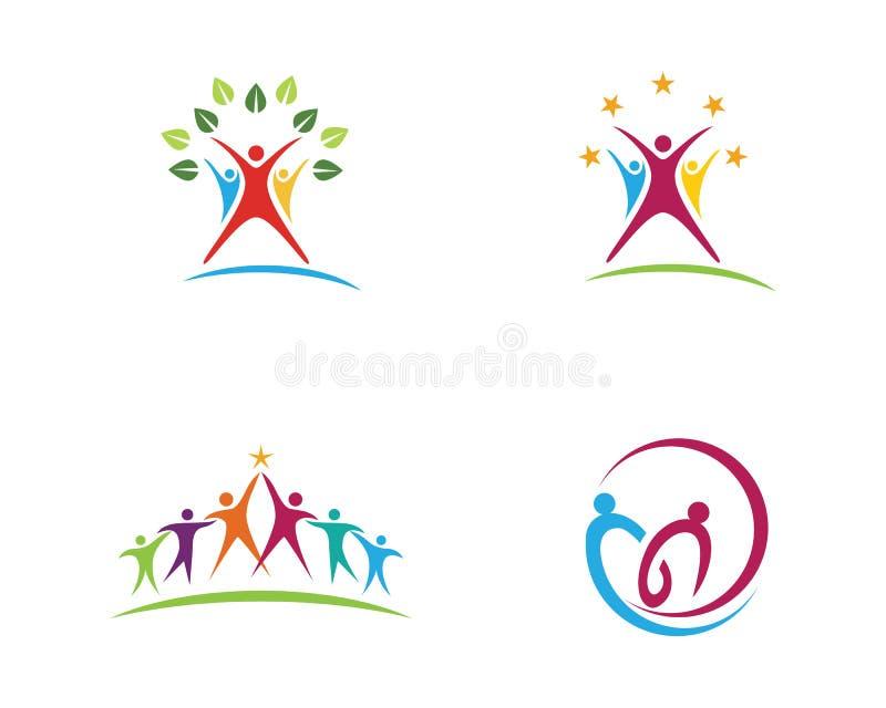 Шаблон логотипа оказаних помощей иллюстрация вектора