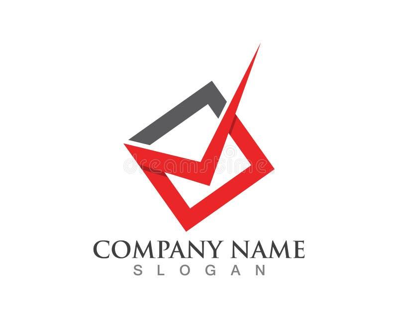 Шаблон логотипа письма контрольной пометки v бесплатная иллюстрация