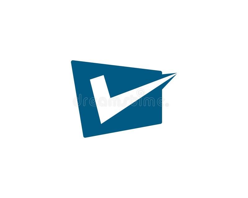 Шаблон логотипа письма контрольной пометки v иллюстрация вектора