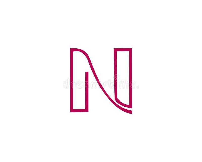 Шаблон логотипа письма n иллюстрация вектора