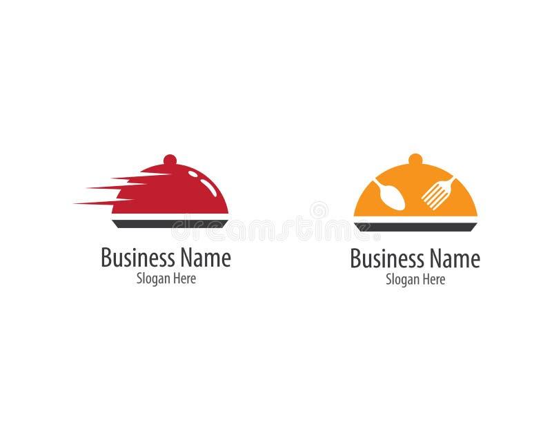 Шаблон логотипа ресторана иллюстрация вектора