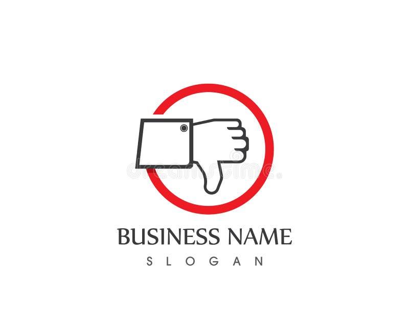 Шаблон логотипа руки большого пальца руки бесплатная иллюстрация