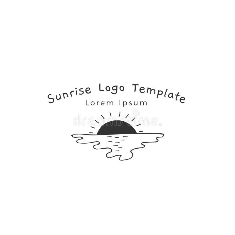 Шаблон логотипа руки вектора вычерченный для дела моря родственного бесплатная иллюстрация