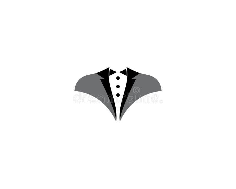 Шаблон логотипа смокинга иллюстрация вектора