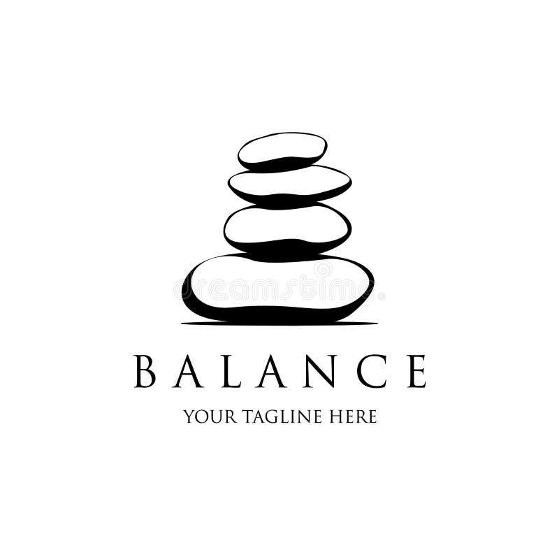 Шаблон логотипа спа вектора Иллюстрация камней спа для дизайна логотипа спа иллюстрация штока