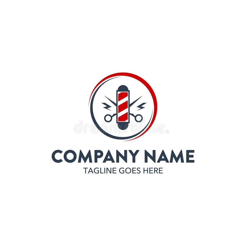 Шаблон логотипа уникально парикмахерскаи родственный вектор editable иллюстрация вектора