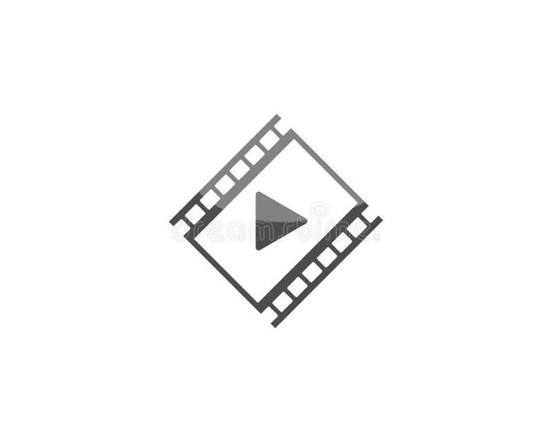 Шаблон логотипа фильма иллюстрация штока