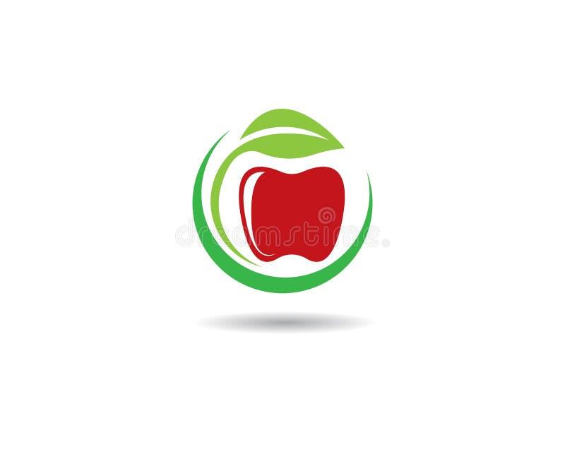 Шаблон логотипа Яблока иллюстрация вектора
