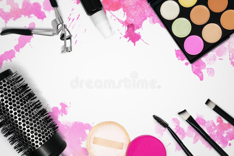 Шаблон макияжа для предпосылки дизайна стоковое фото rf