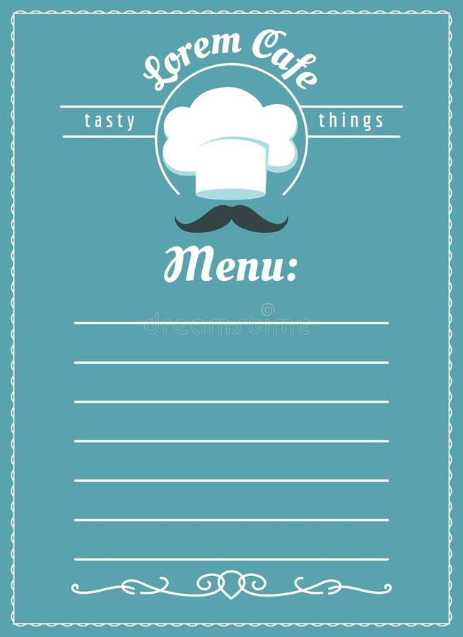 Шаблон меню кафа пекарни иллюстрация штока