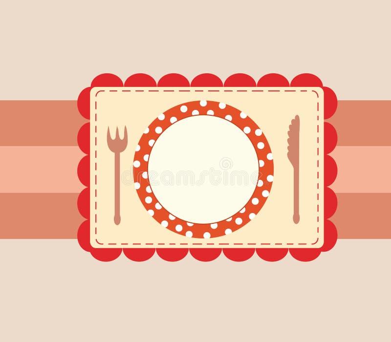 шаблон меню крышки иллюстрация штока