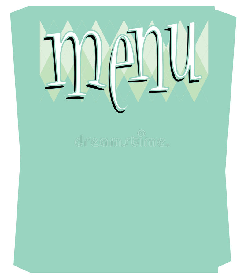шаблон меню потехи ретро иллюстрация штока