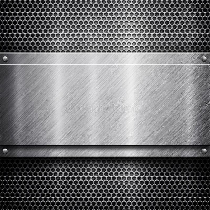 шаблон металла предпосылки иллюстрация вектора