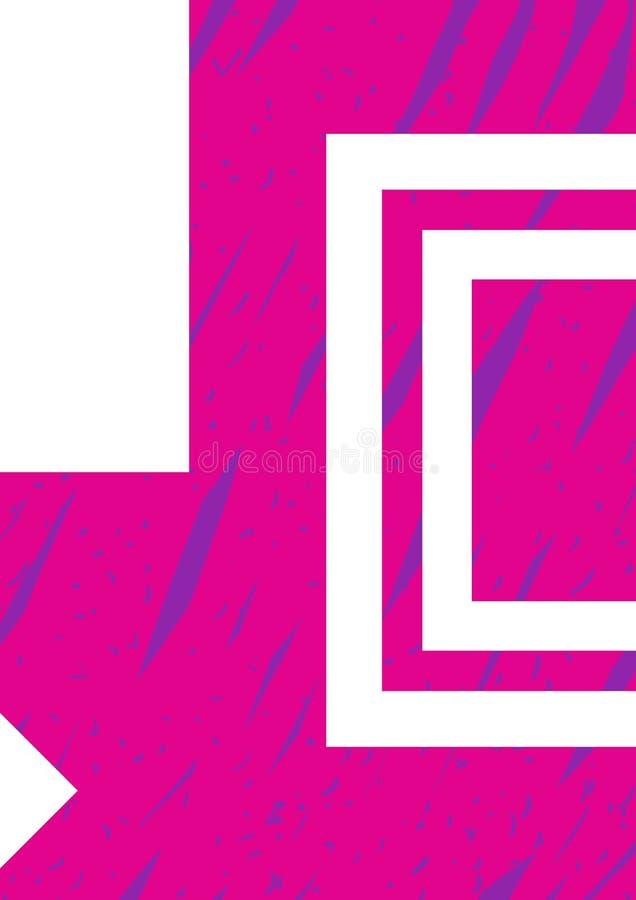 Шаблон модель-макета вектора плаката Пинк руки вычерченный и голубая предпосылка иллюстрации, декоративные элементы конструируют  иллюстрация вектора