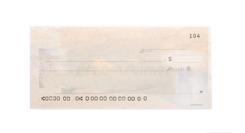 Шаблон незаполненного чека стоковые фотографии rf